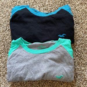 Two {HOLLISTER}  Short Sleeve Shirts- Bundle